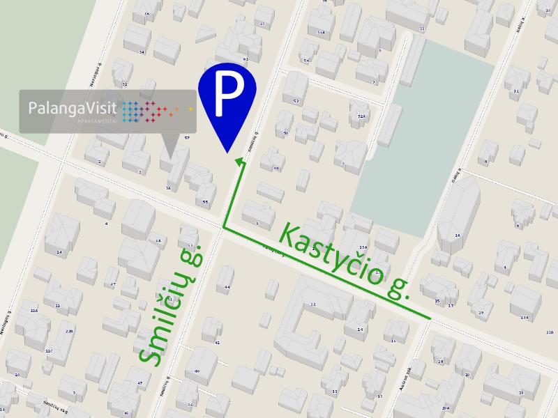 Atvykimo informacija, automobiliu parkaviams